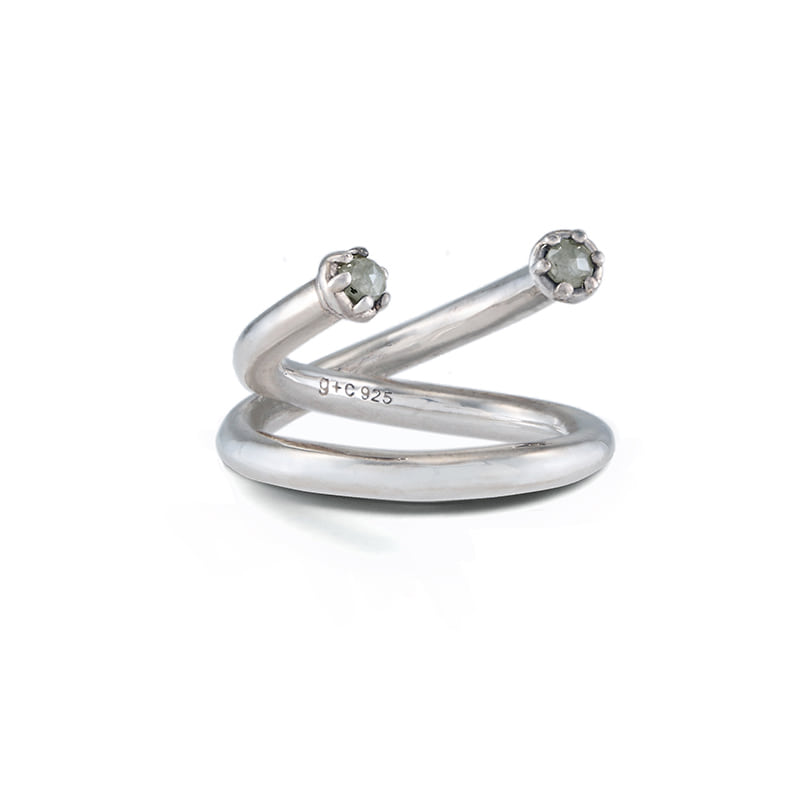 Xi Ring: Grey Diamond