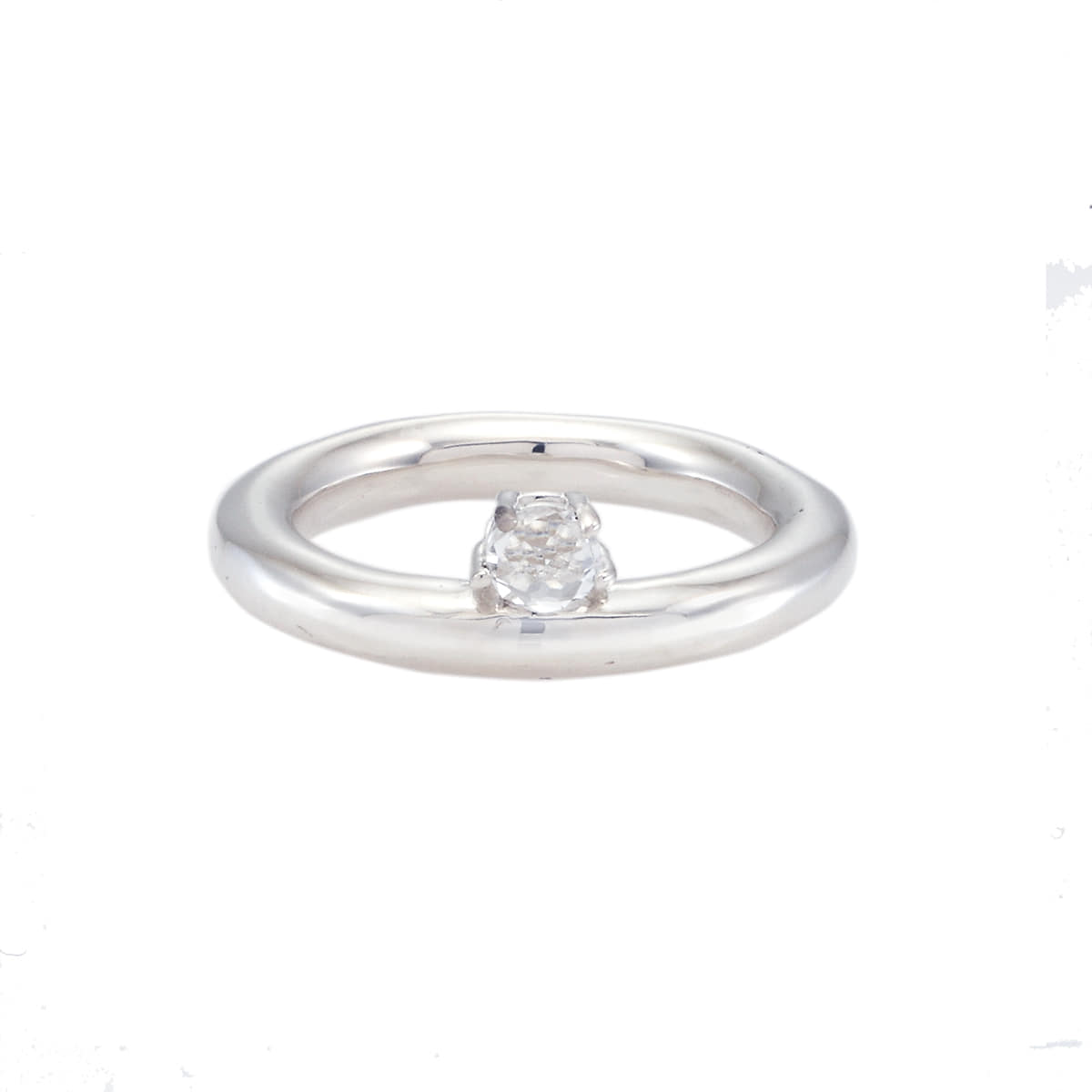 Li Ring: White Topaz