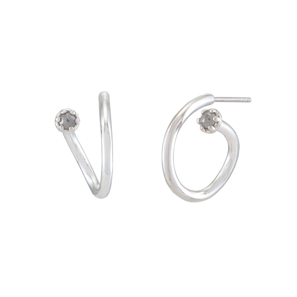 Si Earring: Grey Diamond